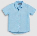Kurzärmliges Hemd aus Leinengemisch