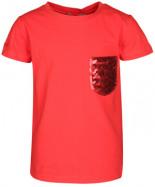 T-Shirt mit Pailletten-Brusttasche