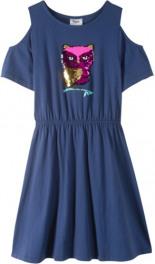 Cold-Shoulder-Kleid mit Wendepailletten