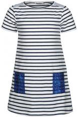 Jersey-Kleid POPPY mit Pailletten Gestreift