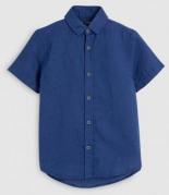 Kurzärmeliges Hemd aus Leinenmischgewebe