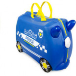Kinderkoffer Polizeiauto Percy bunt