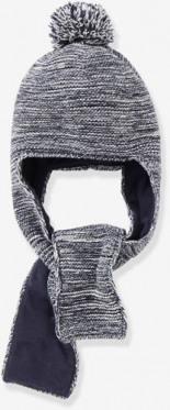 Babymütze mit Integriertem Schal von