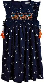 Kleid mit Rüschen Stickereien