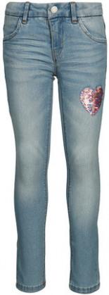 Jeans-Hose NKFSALLI DNMTONJA Slim-Fit mit Wende-Pailletten Light Denim