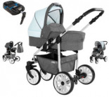 Kombikinderwagen Berlin mit Isofix Set Luftreifen and Light Day