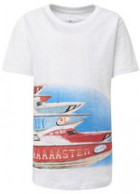 Kurzarmshirt T-Shirt mit Print Vorne