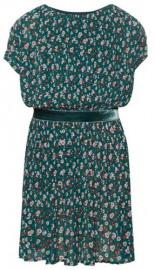 Falten Blumenprint Kleid