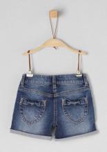Denim-Shorts mit Pailletten-Motiv