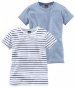 T-Shirt Packung 2-tlg Leicht Tailliert