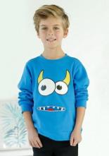 Sweatshirt mit Coolem Druck Dekozipper