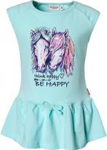 T-Shirt mit Pailletten Volants Pferd Kleinkinder