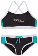 Bustier-Bikini mit Kontrastdetails