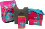 Schulrucksack ErgoFlex Flamingo Set
