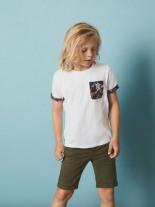 Tropen-Blumenprint T-Shirt