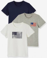 3er-Pack Kurzarm-Unterhemden Stretch von