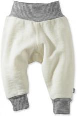 Hose aus Schurwolle Naturfarben