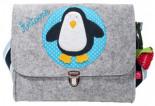 Filz-Kindergartentasche PINGUIN x7cm Personalisierbar Melange