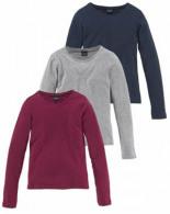 Langarmshirt Packung 3-tlg Schmale Basicform