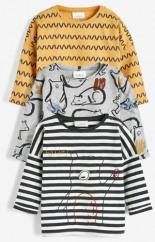 T-Shirts mit Bär-Print 3er-Pack Teilig