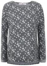 Umstandssweatshirt mit Sternchen
