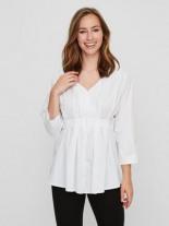 Gewebte Still-Bluse mit Rmeln