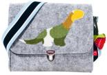 Filz-Kindergartentasche DINO x7cm Personalisierbar Melange