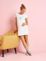 Maxi-Shirt Schwangerschaft Homewear aqua von