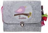 Filz-Kindergartentasche VÖGELCHEN x7cm Personalisierbar Melange