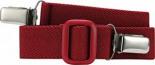 Elastischer Kindergürtel mit Clips Uni Passend bei one size rot
