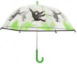 Regenschirm Transparent Monkey