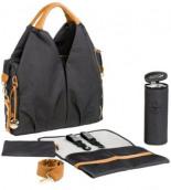 Wickeltasche Label Neckline Bag Denim Set Inklusive Wickelunterlage
