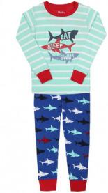 Schlafanzug SHARK FRENZY 2-teilig lang